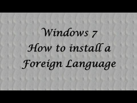 Windows 7 Ultimate - How to install a foreign language