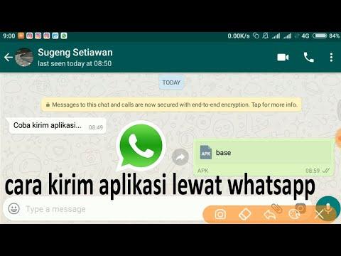 cara mengirim aplikasi / games lewat whatsapp wa dengan mudah