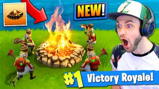 *NEW* CAMPFIRE GAMEPLAY in Fortnite: Battle Royale!