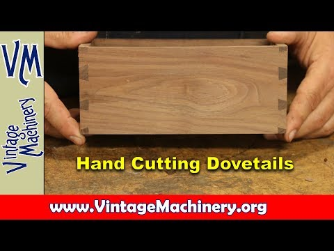 Hand Cutting Dovetail Joints