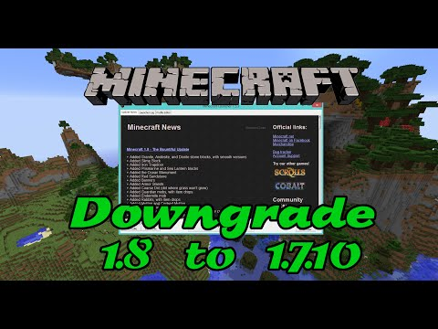 How to downgrade profiles from Minecraft 1.8 to Minecraft 1.7.10 (see below for 1.10)