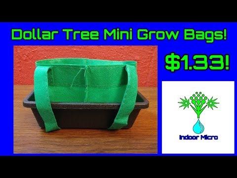 Dollar Tree Small Mini Micro Grow Bags Fabric Air Pots