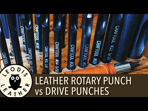 Leather Rotary Punch vs Drive Punches 4K