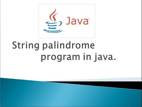 java program to check string palindrome