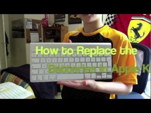 How to Change the Batteries on an Apple Wireless Keyboard/Trackpad