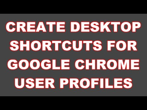 How to create profile shortcut of Google Chrome user profile
