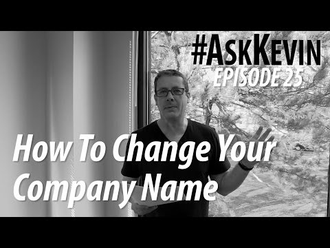How To Change The Name of Your Company