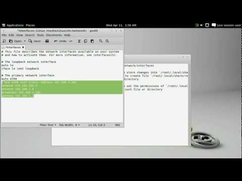 How to set a static IP address in Crystalbuntu for the AppleTV
