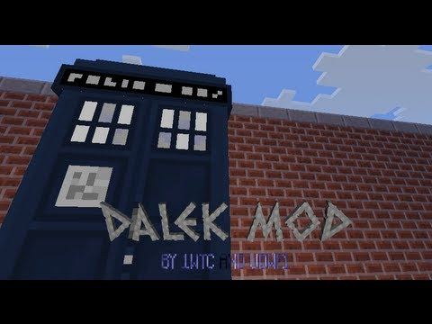 Minecraft Dalek Mod - Bigger on the inside Tardis - First Test