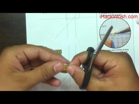 How to Cut Mini or Micro SIM in to Nano SIM for iPhone 5