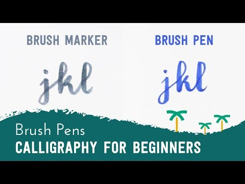 Brush Pen Calligraphy for Beginners - 'JKL' Brush Lettering  | Stationery Island