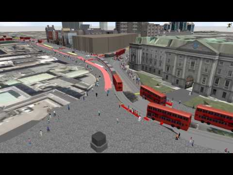 Dublin City Council traffic simulation: full model run through