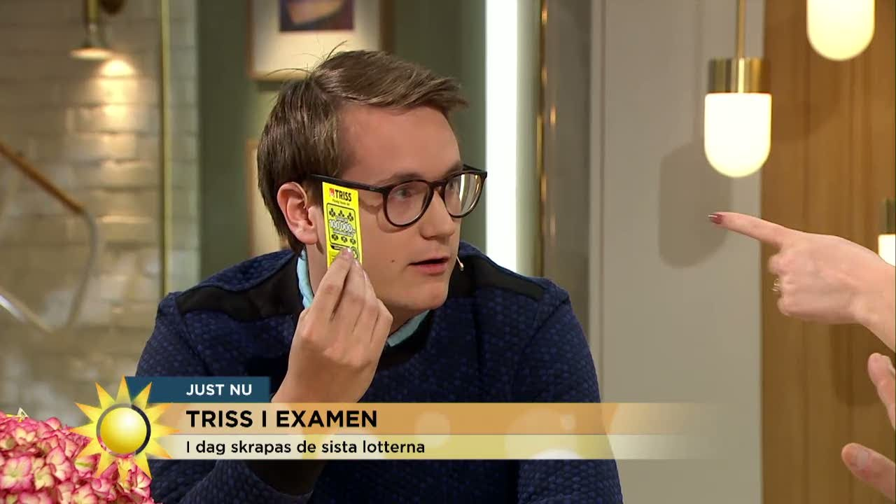 """Historiskt Triss-skrap i tv: """"Blev INGEN vinst!"""" - Nyhetsmorgon (TV4)"""