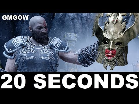 God Of War (PS4) - Valkyrie Queen Sigrun - 20 SECONDS KILL [GIVE ME GOD OF WAR, NEW GAME PLUS]