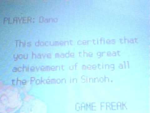 pokemon diamond certificate