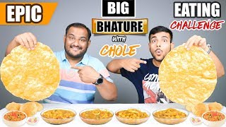 EPIC CHOLE BHATURE EATING CHALLENGE | Chole Bhature Eating Competition | Food Challenge