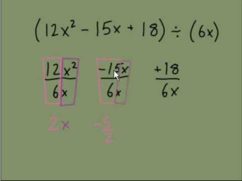 Dividing Polynomials Part 1