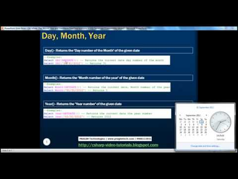 Part 26  IsDate, Day, Month, Year and DateName DateTime functions in SQL Server