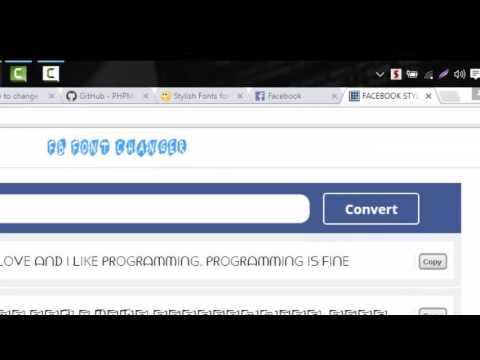 How to change fonts on Facebook status - Facebook Tips