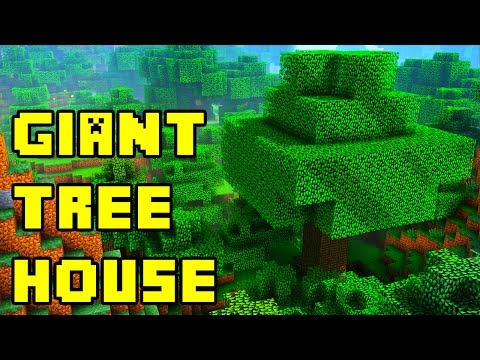Minecraft: Easy Giant Treehouse Tutorial PE/PC/Xbox/PS3/PS4
