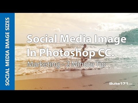 Social Media Image Size Editing or Crop in Photoshop CC ( Quick 2 minute tip)