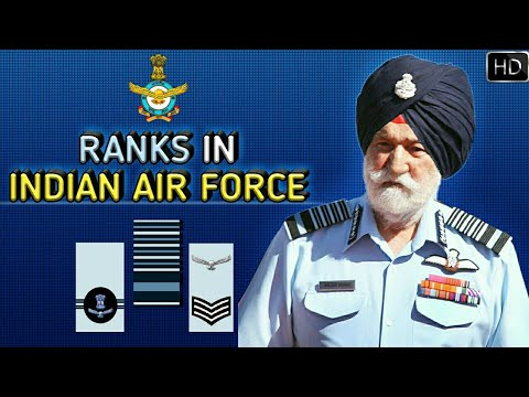 Ranks In Indian Air Force | Indian Air Force Ranks, Insignia And Hierarchy Explained (Hindi)