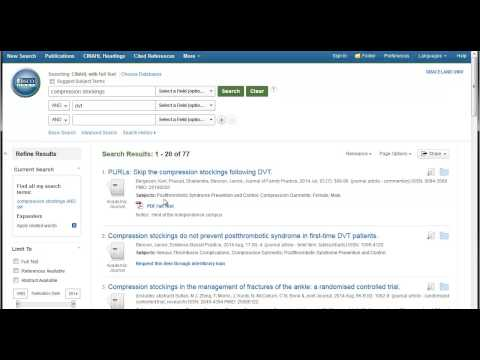 Requesting articles in CINAHL
