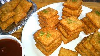 बनाईये एक ऐसा खस्ता चटपटा नाश्ता जो सफर की भूख में सबके मुहँ को भा जाये |Khasta Crackers
