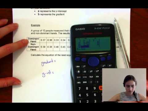 Line of best fit with your calculator - CASIO