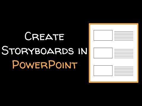 Create a storyboard template in PowerPoint