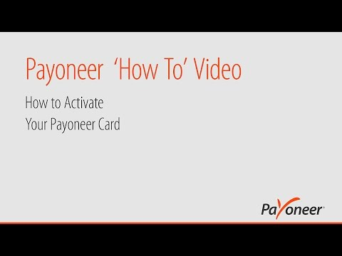 How to Activate Your Payoneer Card