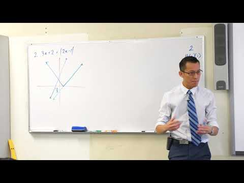 Solving Absolute Value Equation Example 3x + 2 = |2x - 1|