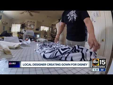Phoenix dress designer making Disney gowns