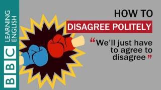 How to disagree politely