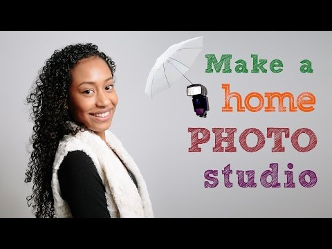 Make a home photo studio - DSLR tutorial