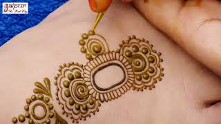 Artistic Leg Mehndi design | Easy Simple Henna Mehendi Pattern #131 @ jaipurthepinkcity