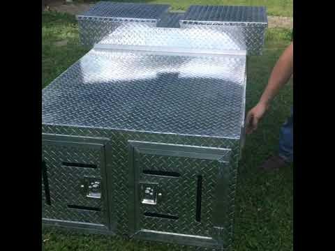 Custom Dog Box Build with top storage