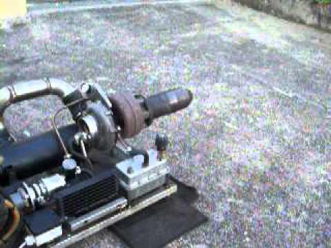Homemade Turbojet engine - first startup
