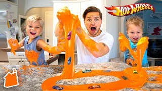 HOT WHEELS SLIME MESS IN THE KITCHEN!