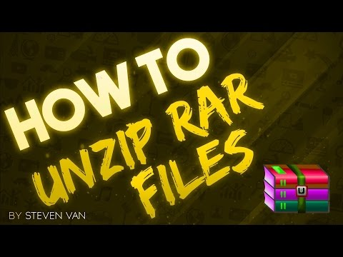 How to unzip files without winrar or winzip