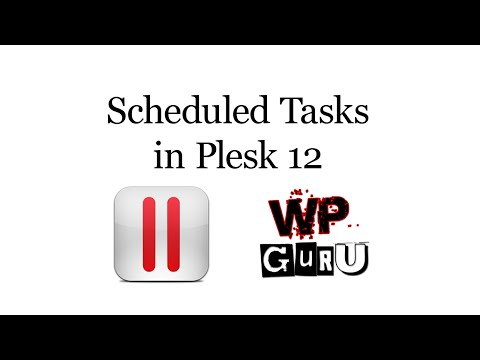 Creating Scheduled Tasks in Plesk 12