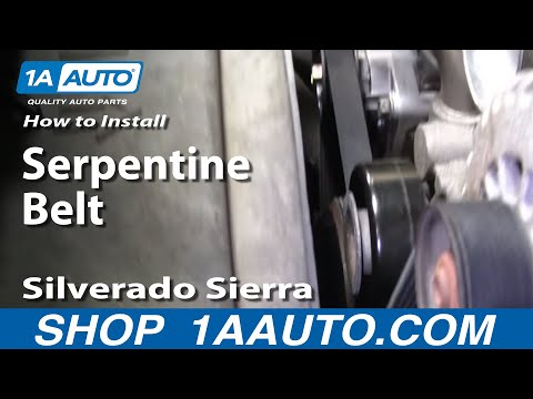How To Install Replace Serpentine Belt Silverado Sierra Tahoe Yukon 4.8L 5.3L 6.0L - 1AAuto.com