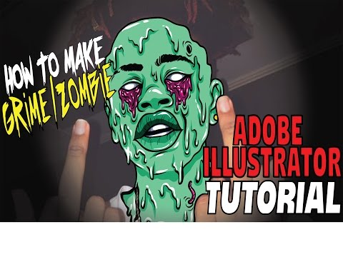 Tumblr Inspired Grime Edit / Zombie Edit - Ai Tutorial / /Ai  Tutorials Free / How To