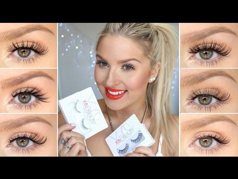 How To Apply False Eyelashes ♡ xoBeauty Lash Try-On's