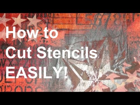 How to Cut Stencils Easily!