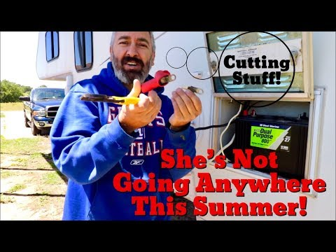 Van Life; Cutting Stuff! She's Not Going Anywhere This Summer! The Lance Camper S P! Part 8