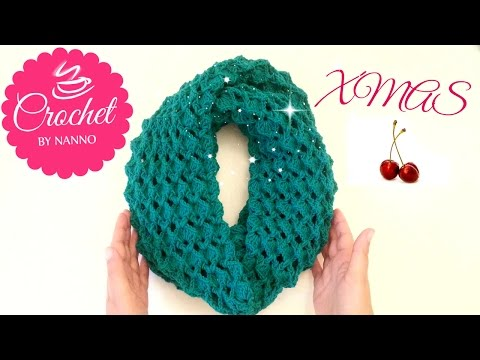 How to Crochet Scarf Cowl /Stitch #1 | Easy for all l☕ The Crochet Shop xmas gift