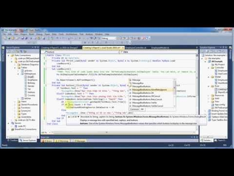 Creating A Report In Visual Studio 2010
