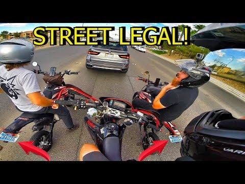 2 STREET LEGAL SSR PIT BIKES!!