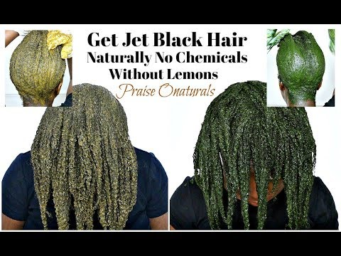 How To Dye Hair Black/Jet Black Naturally With Amla Henna And Indigo Powder Without Lemons